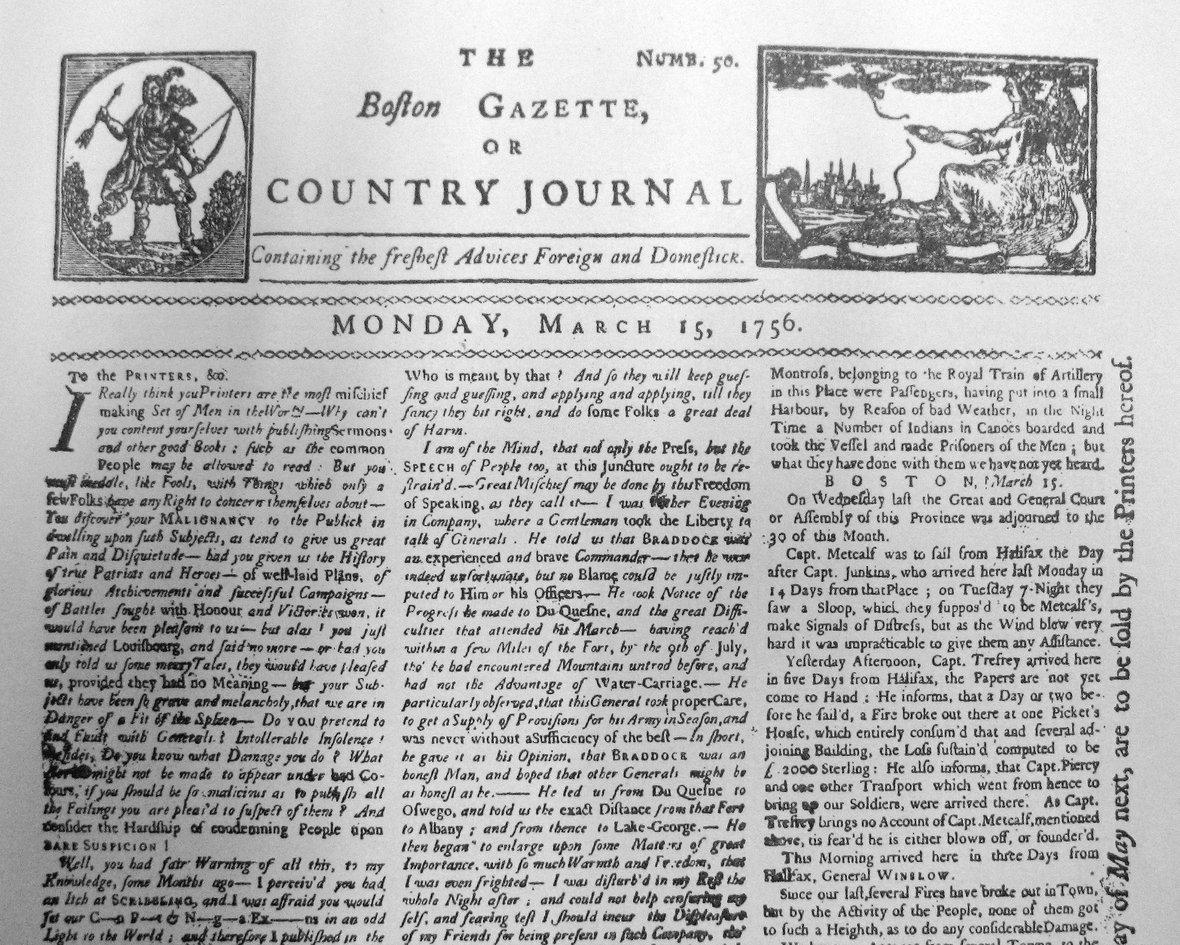 Boston Gazette, 1976 жылдағы хабарландыру. Фото: Wikimedia Commons